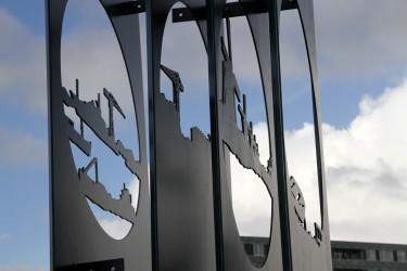 Anamorphosis - Artwork Architect: Rosalinde van Ingen Schenau Client: Gemeente Alblasserdam Engineer: Royal IHC Builder: Royal IHC Location: Albasserdam, NL