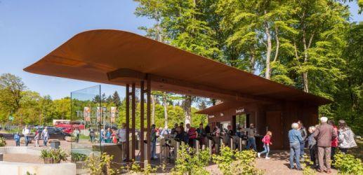 Nationaal Openlucht Museum - Ticket pavilion Architect: Mecanoo Client: NOM Engineer: ABT Builder: Royal IHC Location: Arnhem, NL